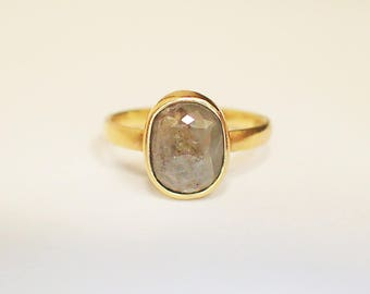 Ring 750 gold diamond Rose Grey