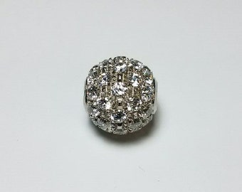 Vintage 18K Gold Disco Crystal Bead *ON SALE for a limited time*