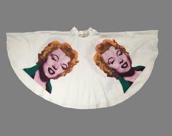 1980s 50s Style Marilyn Monroe Circle Skirt by Katy K