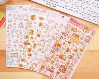 SanX Rilakkuma, Korilakkuma & Friends Stickers