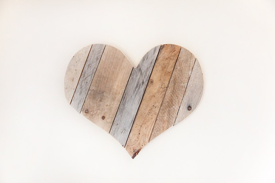 farmhouse decor heart wood heart wall heart woodland