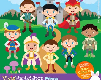 Prince Clipart, Cute Prince, Disney Prince, Prince Charming, Little Prince, Instant Download, C#056