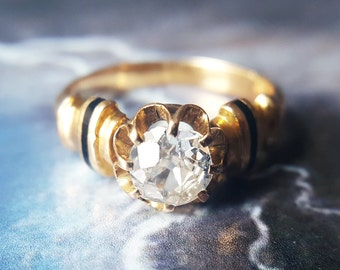 Solitaire Engagement Ring | Diamond Solitaire Ring | Diamond Ring | Vintage Solitaire Ring Antique Engagement Ring Victorian Engagement Ring