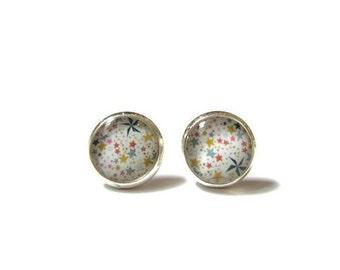 LITTLE GIRL EARRINGS - stars studs - colorful - Children's Earrings - Kid's Earrings - Small Tiny Studs - flower girl - junior bridesmaid