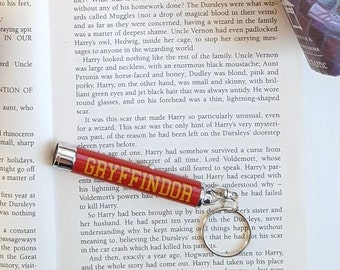 Gryffindor logo flashlight keychain