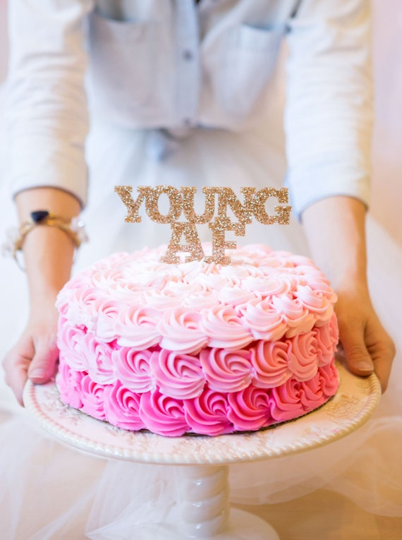 Youngaf cake topper for adult birthday cake smash photos or for Adult birthday cake decoration