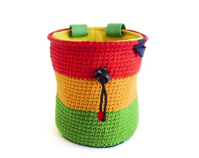 Best Chalk Bag. Best Chalk Bags For Climbing, Top Chalk Bags Climbing - Reggae, Rasta, Jamaica - M and L Size