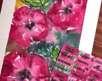 "CATHOLIC ""Shelby's Bouquet"" Multicolored Books of Bible Tabs by Victoria Anderson"