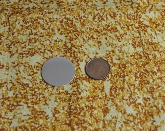 10 Polished 1' Metal Stamping Disc Blanks 14g 1100 Food Safe Aluminum