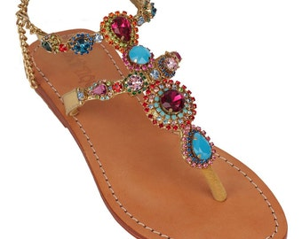 Exotic Jewel Sandals (Size 6)