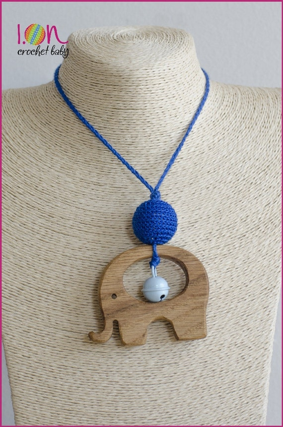 Simple Nursing Necklace with rattle