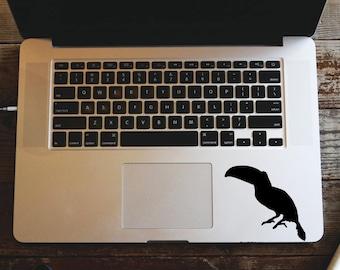 Toucan Laptop Sticker, Toucan Decal, MacBook Vinyl Decal, Laptop Sticker, Window Sticker, Bird Sticker, Yeti Decal, Vinyl Bumper Sticker