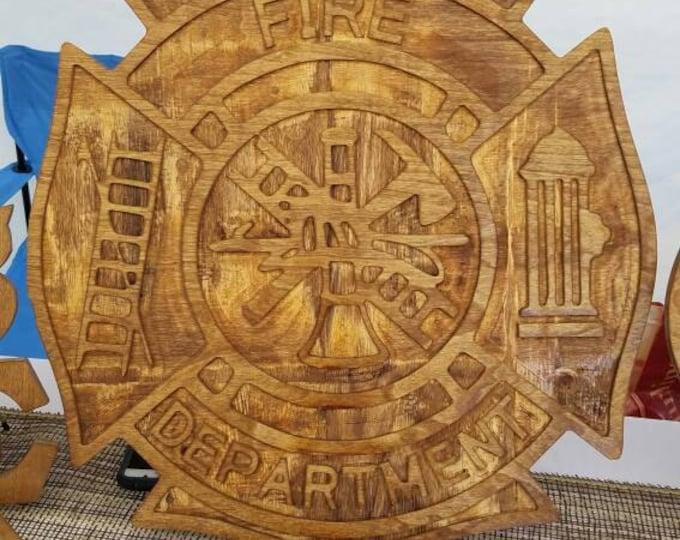 Reclaimed Wood Fireman Plaque