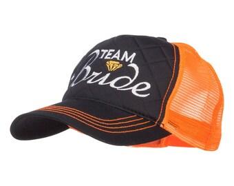 Team Bride Embroidered Neon Trucker Cap