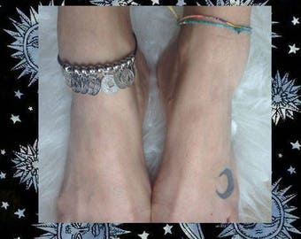 Coin anklet/anklet with pennies