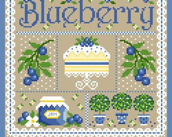 Blueberry Sampler Cross Stich Chart PDF