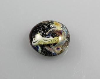 22mm Jellyfish Lampwork Glass Cabochon, Lampwork Cabochon Dome,  Cabochon jellyfish Lampwork Glass, Glass jewelry womens jewelry