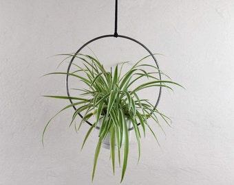 Hanging plant holder.