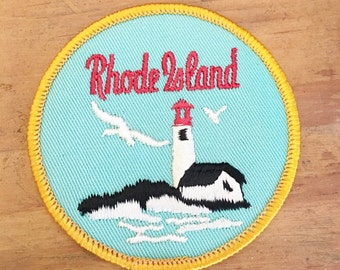 Vintage Rhode Island    State Patch   Vintage Sew on Patch for Rhode Island