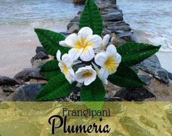Frangipani Plumeria Crochet Flower, Crochet Plumeria, Plumeria Plant, Plumeria Flowers