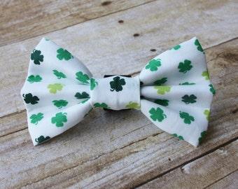Shamrock Dog Bow Tie/St. Patrick's Day Bow Tie
