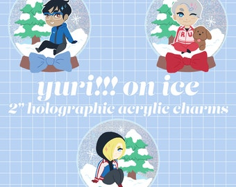 "YURI on ICE - 2"" holographic charm"