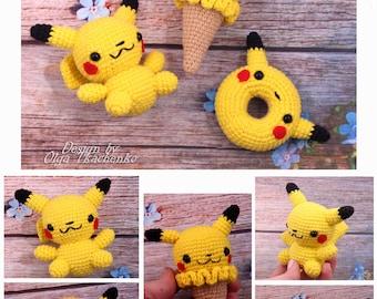 SALE20% Pokemon Gifts Amigurumi Pikachu Handmade Toy Pokemon Plush Pikachu Christmas Pokemon Gift Present Pokemon Go Pikachu pokemon pikachu
