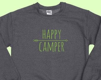 Happy Camper - Crewneck Sweatshirt