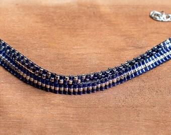 Blue double bracelet