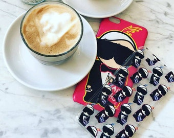 Karl Who Mini Silicone Iphone Case, Karl Lagerfeld iphone case by Socialitte