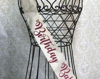Birthday Babe Party sash
