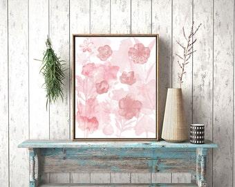 Rose Wall Decor rose wall decor | etsy