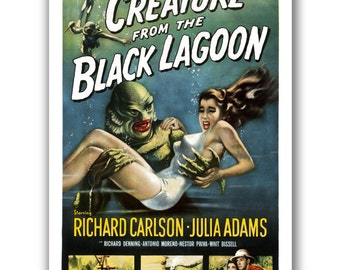 Creature From The Black Lagoon - 13x19 Art Poster - Horror Poster