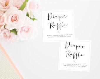 Gender Neutral Diaper Raffle Insert, Printable Baby Shower Game, Diaper Raffle Ticket, Printable Diaper Raffle Ticket, Diaper Raffle Insert