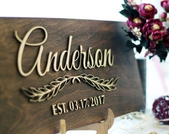 Personalized Family Name Sign Wood Last Name Décor Custom Family Sign Rustic Last Name Sign Family Established Wood Signs Rustic Family Name