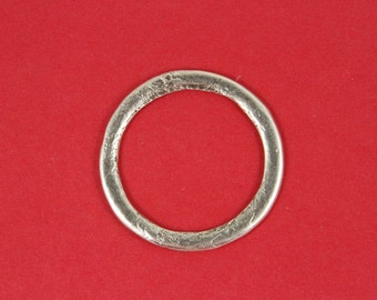 7/9 MADE in EUROPE large silver ring, textured silver ring, hammered silver ring (X5034AS) qty1