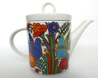 Villeroy and Boch, Acapulco Tea Pot. Luxemburg, Acapulco pattern design Christine Reuter in 1967. #644G924KF