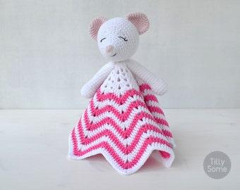 Sleepy Mouse Lovey Pattern | Security Blanket | Crochet Lovey | Baby Lovey Toy | Blanket Toy | Lovey Blanket PDF Crochet Pattern