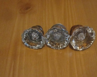 Crystal Door Knob set, 1920s Door Knob set, Very Nice Free Domestic Shipping!