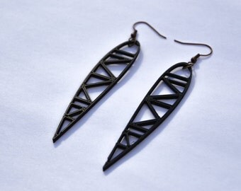 3D Printed Airfoil Earrings