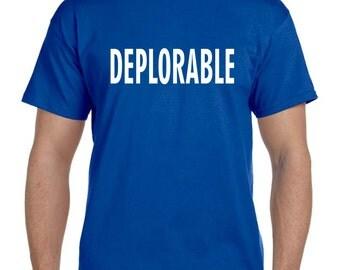 Deplorable t shirts, adorable deplorable Trump train, trump tshirt, election shirt, political shirt, anti hillary, trump tshirt (T 158)