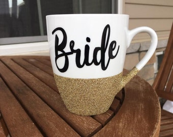 Bride Glitter Coffee Mug, Engagement Mug, Wife Mug, Bride to be Mug, Wedding Mug, Bridal Shower Mug, Future Mrs Mug, Engagement Gift