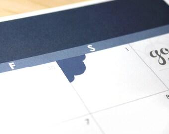 Custom or Blank Corner Planner Stickers, 72 scalloped corner flags, fits Erin Condren Vertical, ...