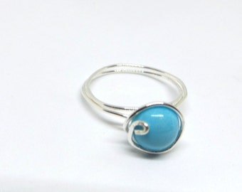 Sleeping Beauty Turquoise Wire Ring