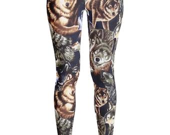 Wolf Leggings - Wolf Costume - Dog Leggings - Wolf Pants - Wolves - Wolf Print Leggings - Wolf Pants - Kids Leggings - Halloween Leggings