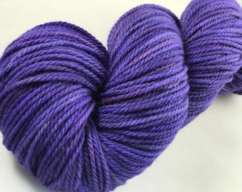 "Hand Dyed Worsted Yarn, 100% Merino Wool ""Hyacinth"""