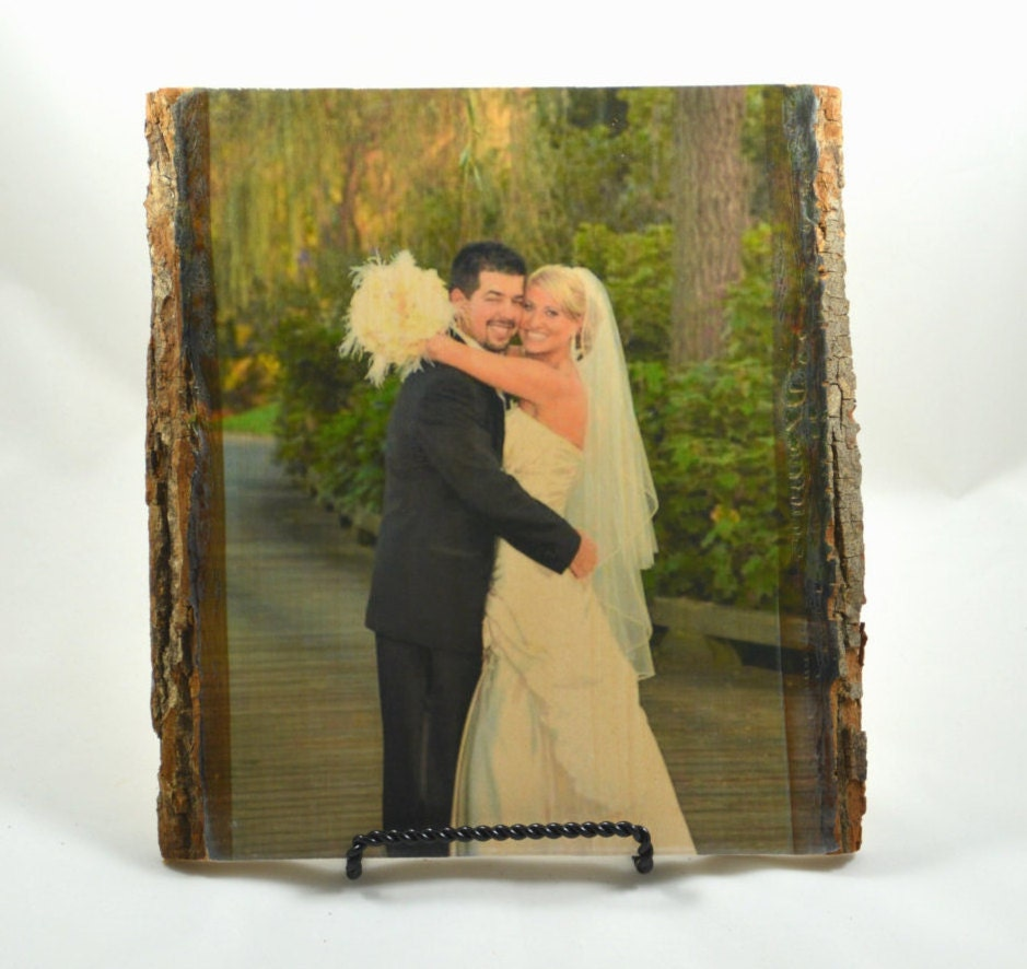 Personalised Wedding Gift Portrait : Wedding Gift Personalized wedding gift photo on wood