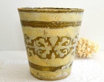 gold waste basket   etsy