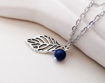 Silver Leaf Necklace | Silver Necklace | Woodland Jewelry