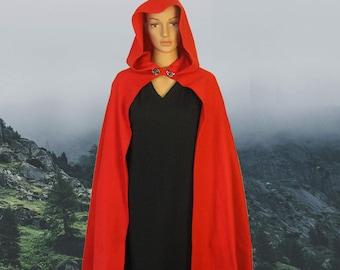 Fleece Red Riding Hood Cape/Cloak, Little Red Riding Hood, Kids/Adult Halloween Costume, RPG, Cosplay
